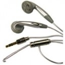Sluchawki stereo AZUSA douszne, srebrne, jack 3.5 mm