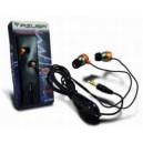 Słuchawki stereo AZUSA douszne, złote, jack 3.5mm