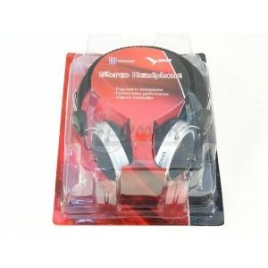 Słuchawki stereo z mikrofonem VAKOSS nagłowne, czarne, jack 3.5mm