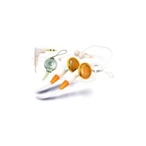 Słuchawki stereo AZUSA douszne, białe, jack 2.5mm
